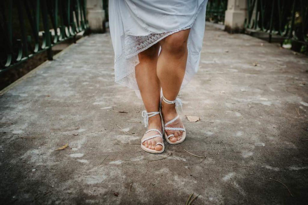 Svatební sandálky