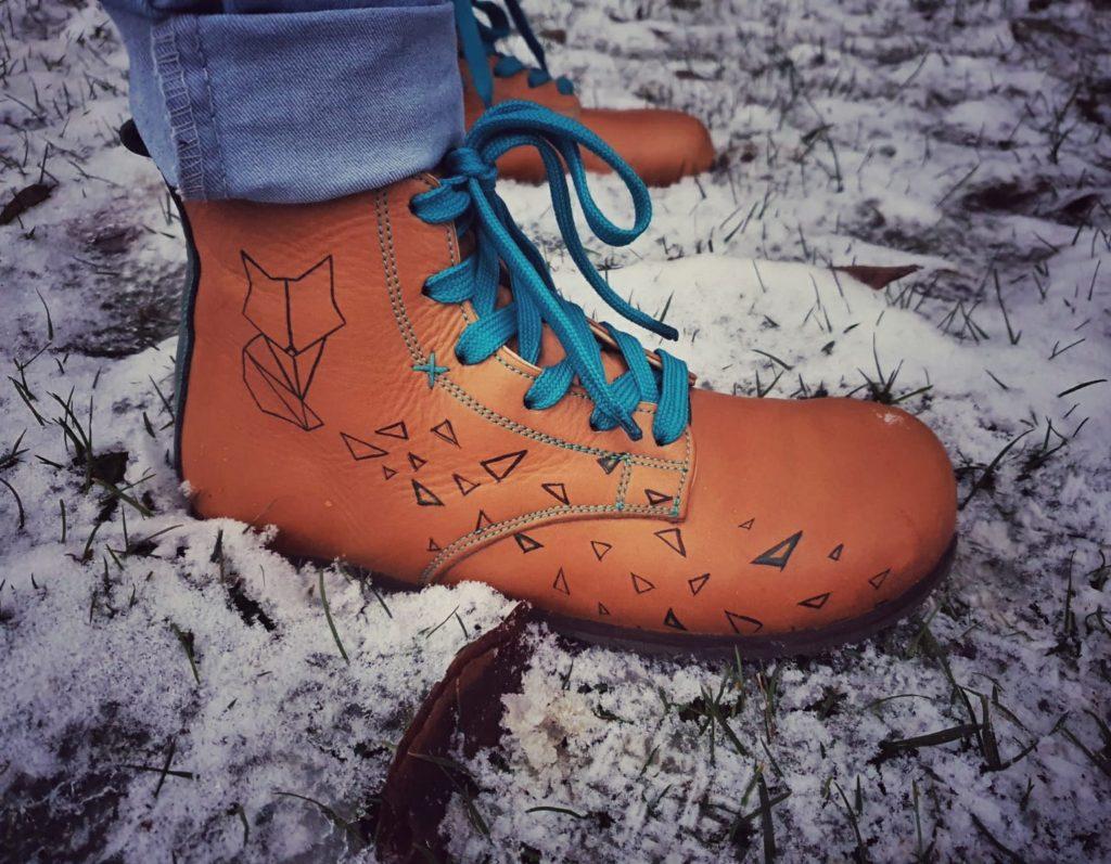 Kotníkové boty s liškou