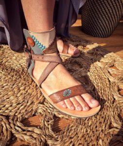 Boho-sandále